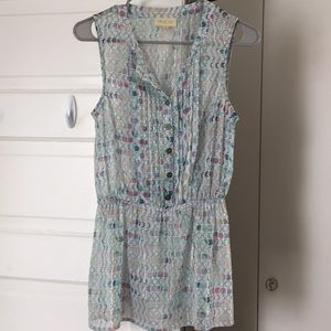Adored Aesthetic sheer top in New Moon Phase print